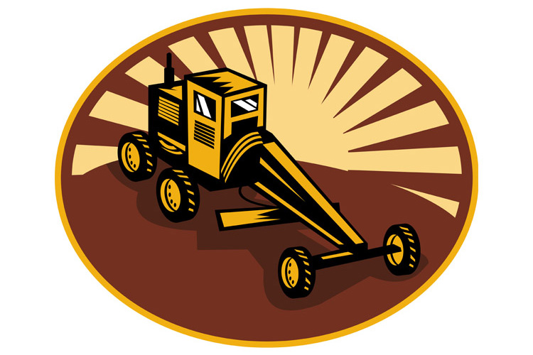 Construction road , blade or motor grader example image 1