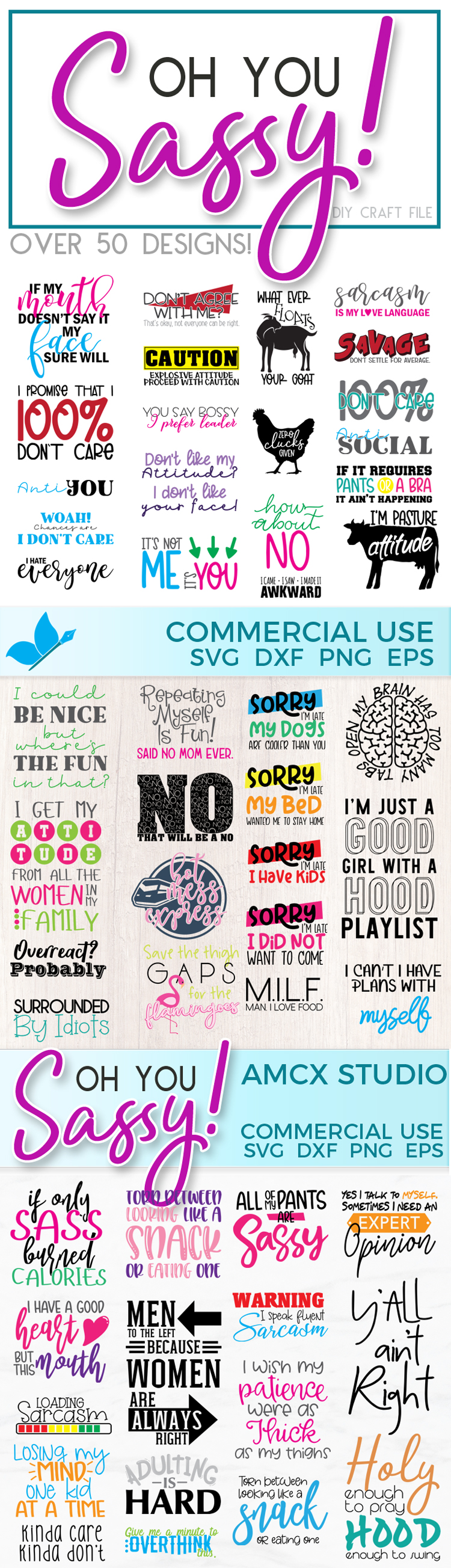 Oh you sassy! - The HUGE Quote Bundle Full of Sass example image 2