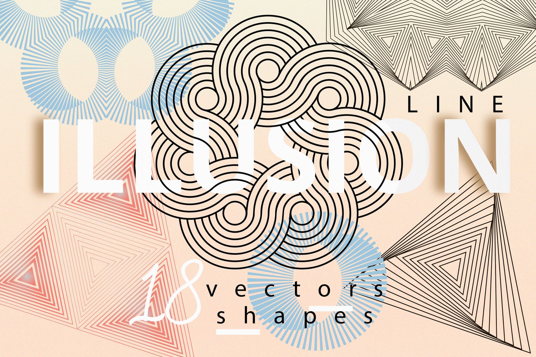 Illusion linear geometric shapes example image 1