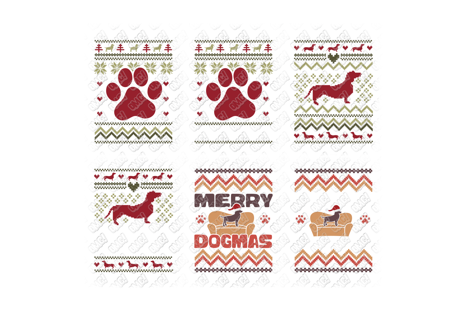 Dog Ugly Christmas SVG Template in SVG, DXF, PNG, EPS, JPG example image 3
