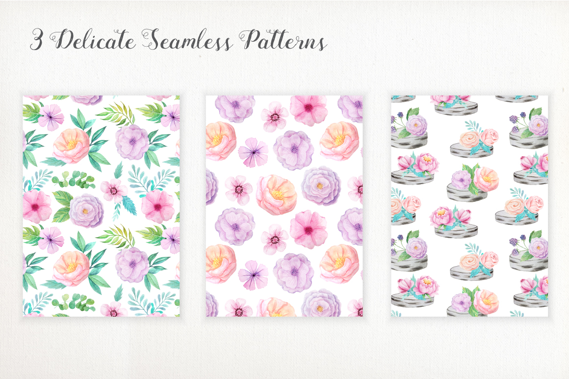 Shabby Chic Watercolor Pack example image 7