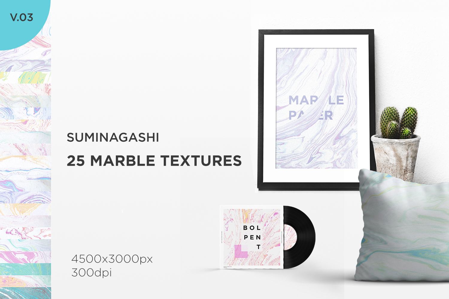 Marble Paper Textures Vol.3 example image 1