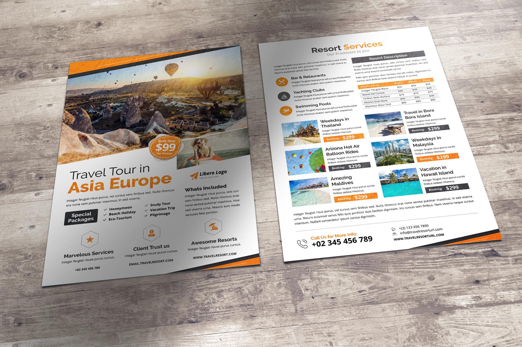 Travel Resort Flyer Design v2 example image 5