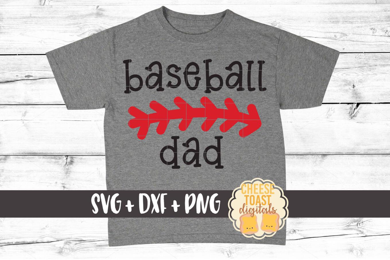 Baseball Dad - Baseball SVG PNG DXF Cut File example image 1