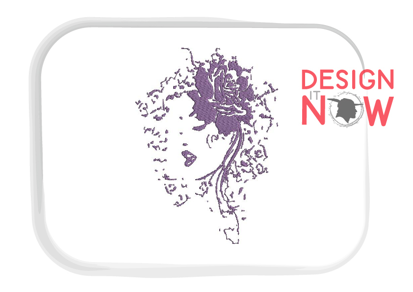Woman Embroidery Design, Abstract Woman Embroidery Art example image 2