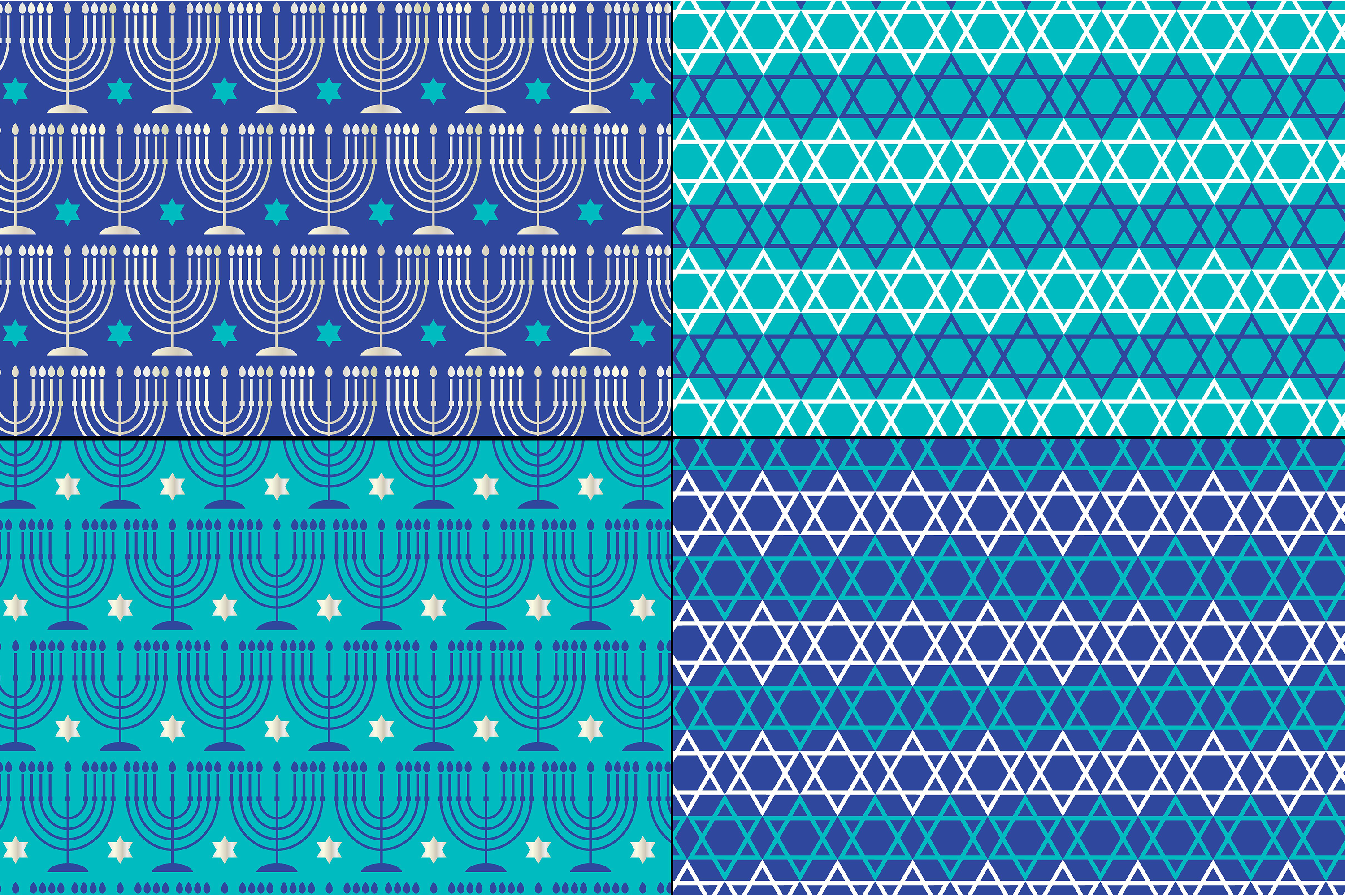 Silver Blue Chanukah Patterns example image 4