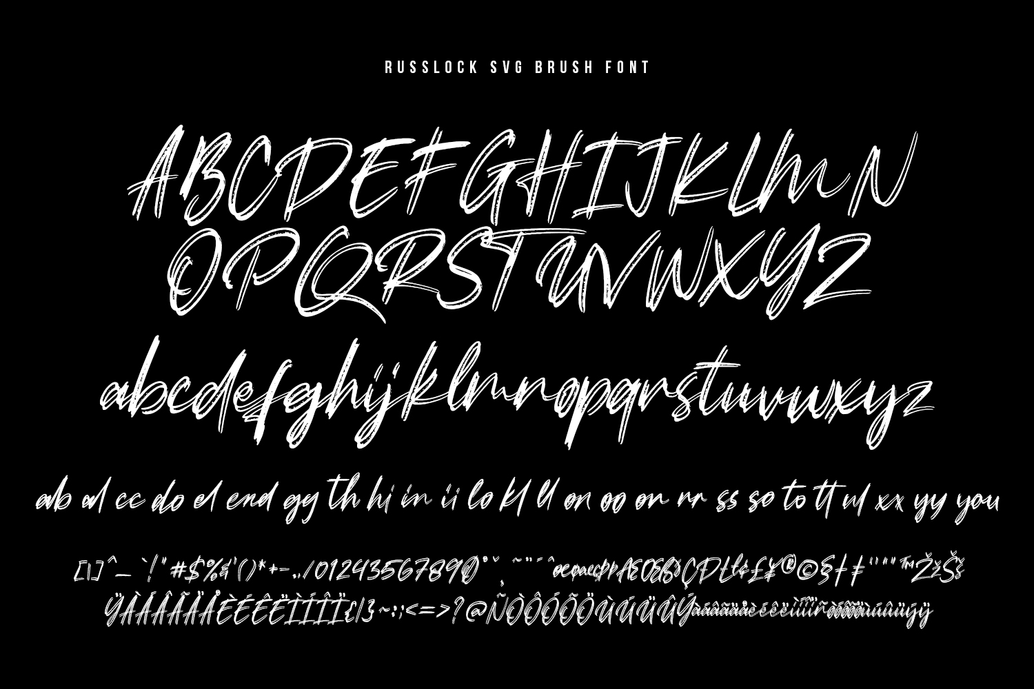 Russlock SVG Brush Font example image 12