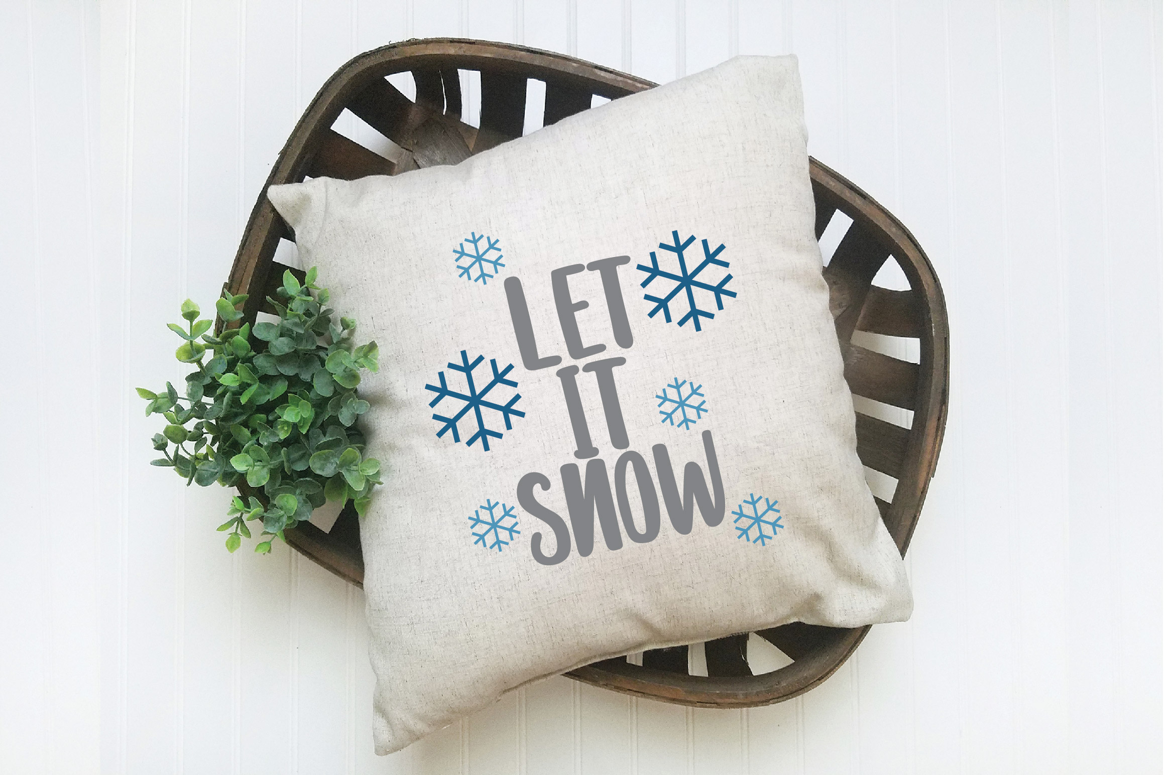 Let it Snow SVG Cut File - Christmas SVG example image 6
