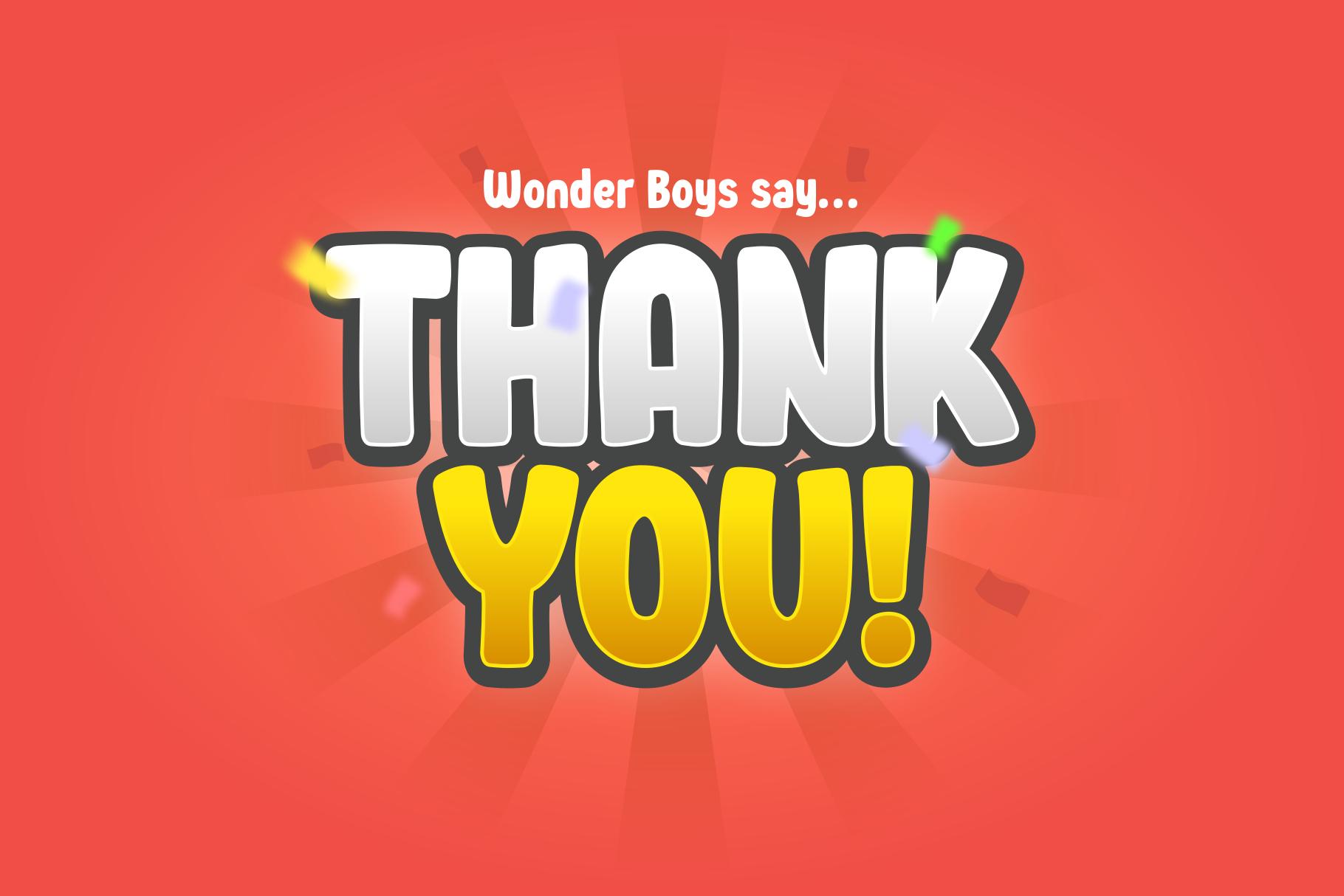 Wonder Boys - Fun Kids Font Display example image 11
