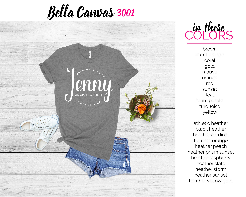 Bella Canvas 3001 Mockup Bundle, Knotted Tshirt Mockup example image 6