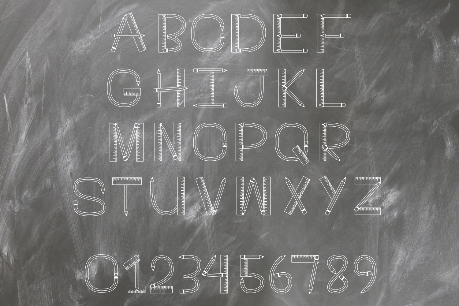 Teacher Monogram Font example image 4