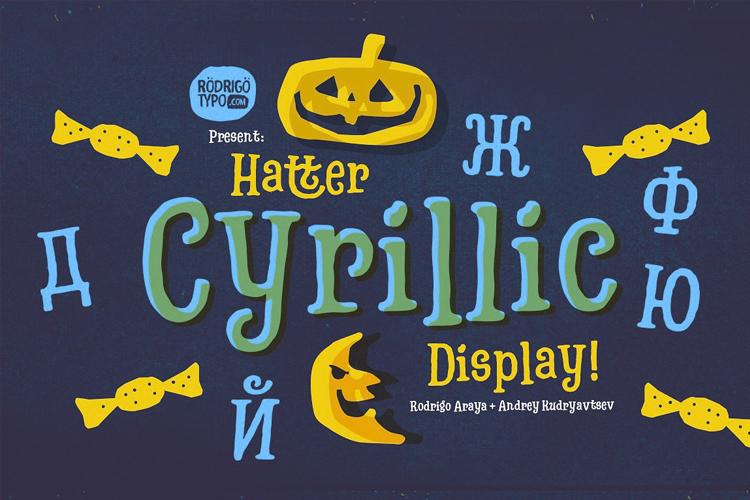 Hatter Cyrillic example image 2