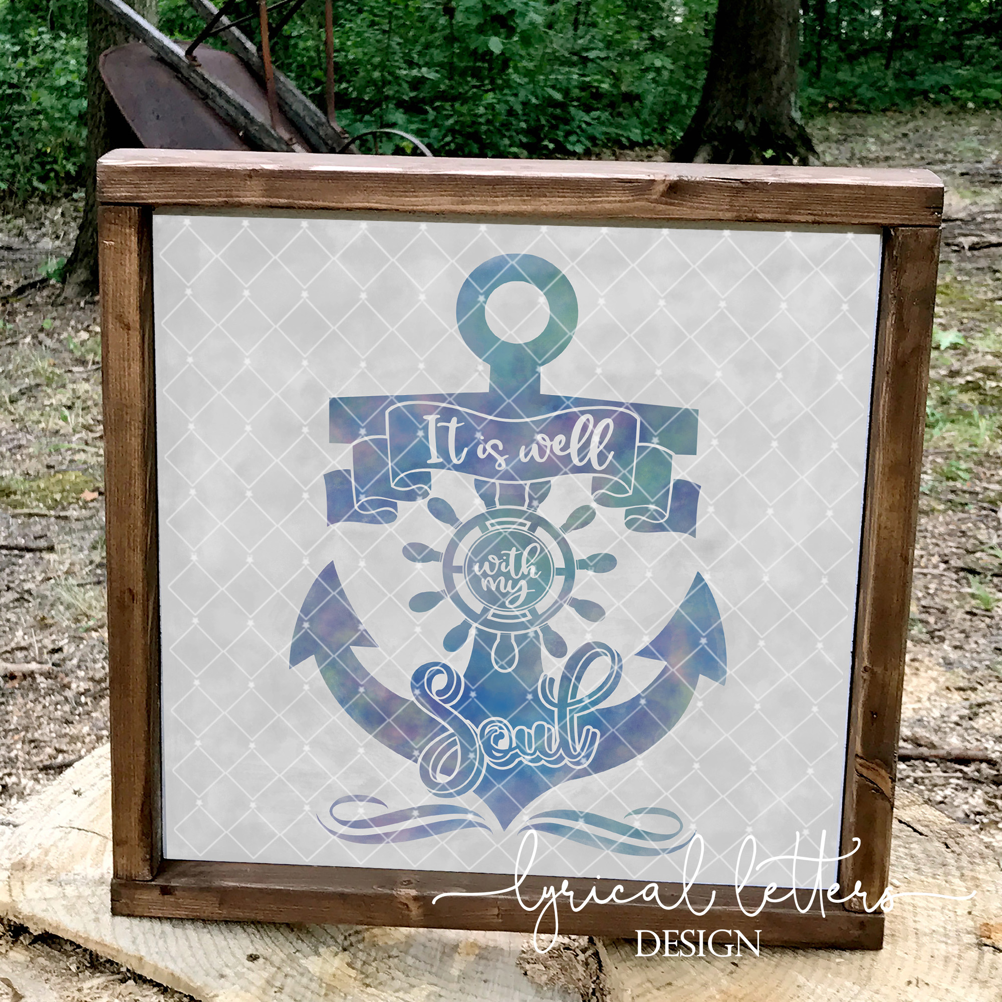 It Is Well With My Soul Anchor SVG Cut File LL229A example image 2