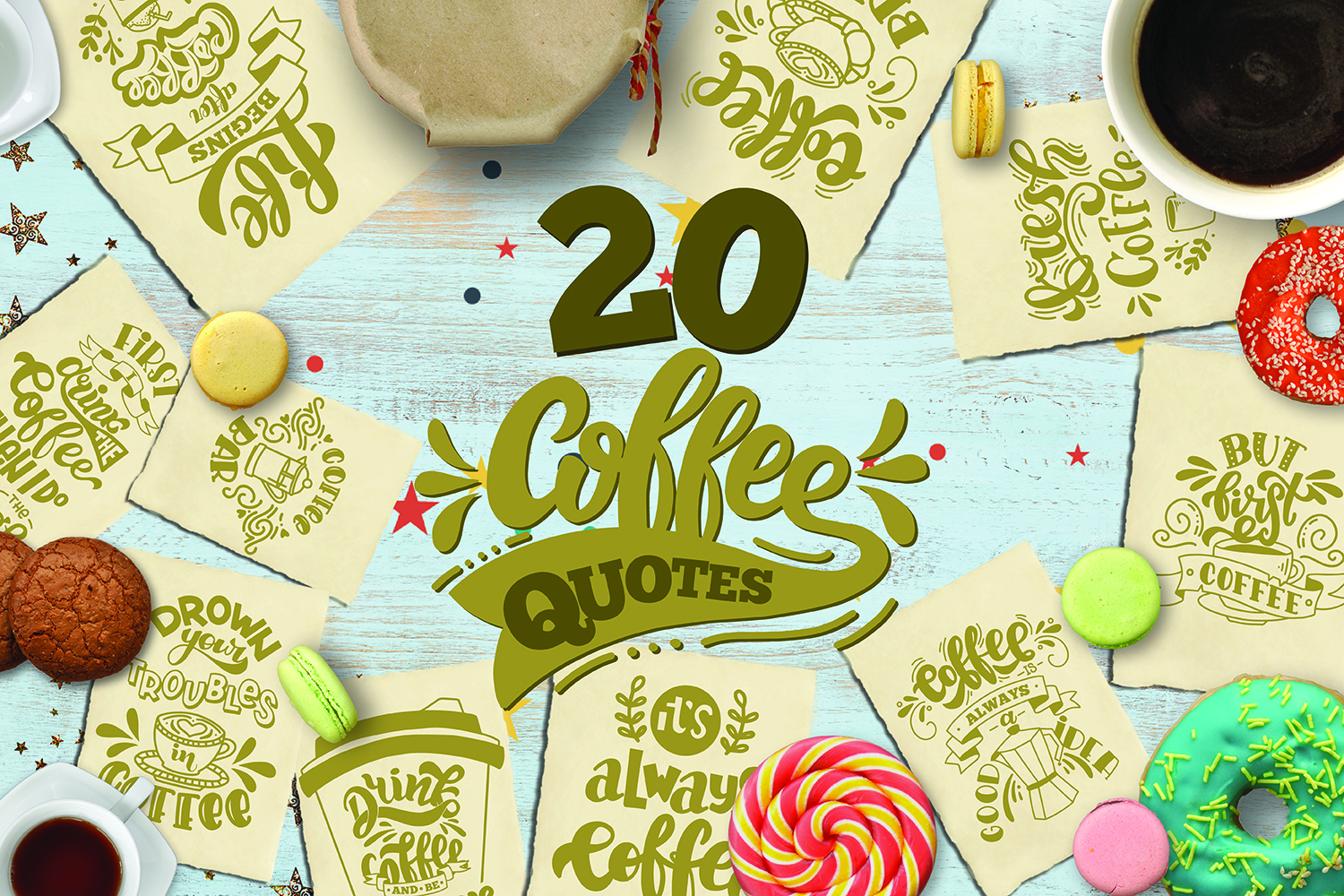 Coffee bundle svg Coffee lovers SVG for t-shirt Design example image 1