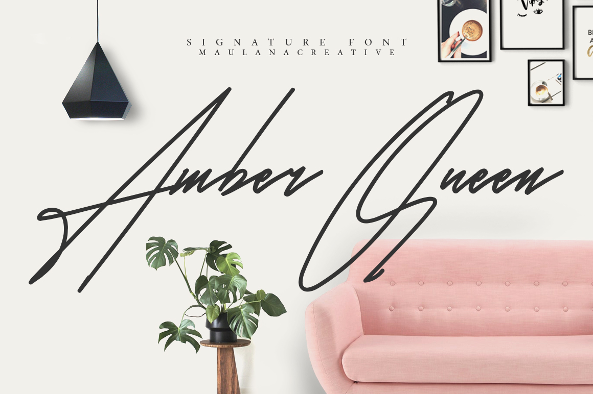 Amber Queen - Signature Font example image 1