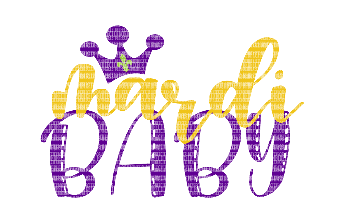 Mardi Baby SVG Files Printable Clipart Silhouette SVG for ...