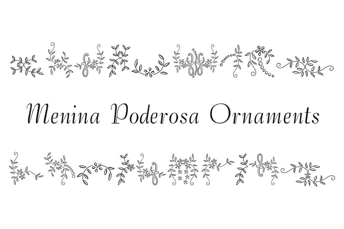 Menina Poderosa Ornaments example image 1