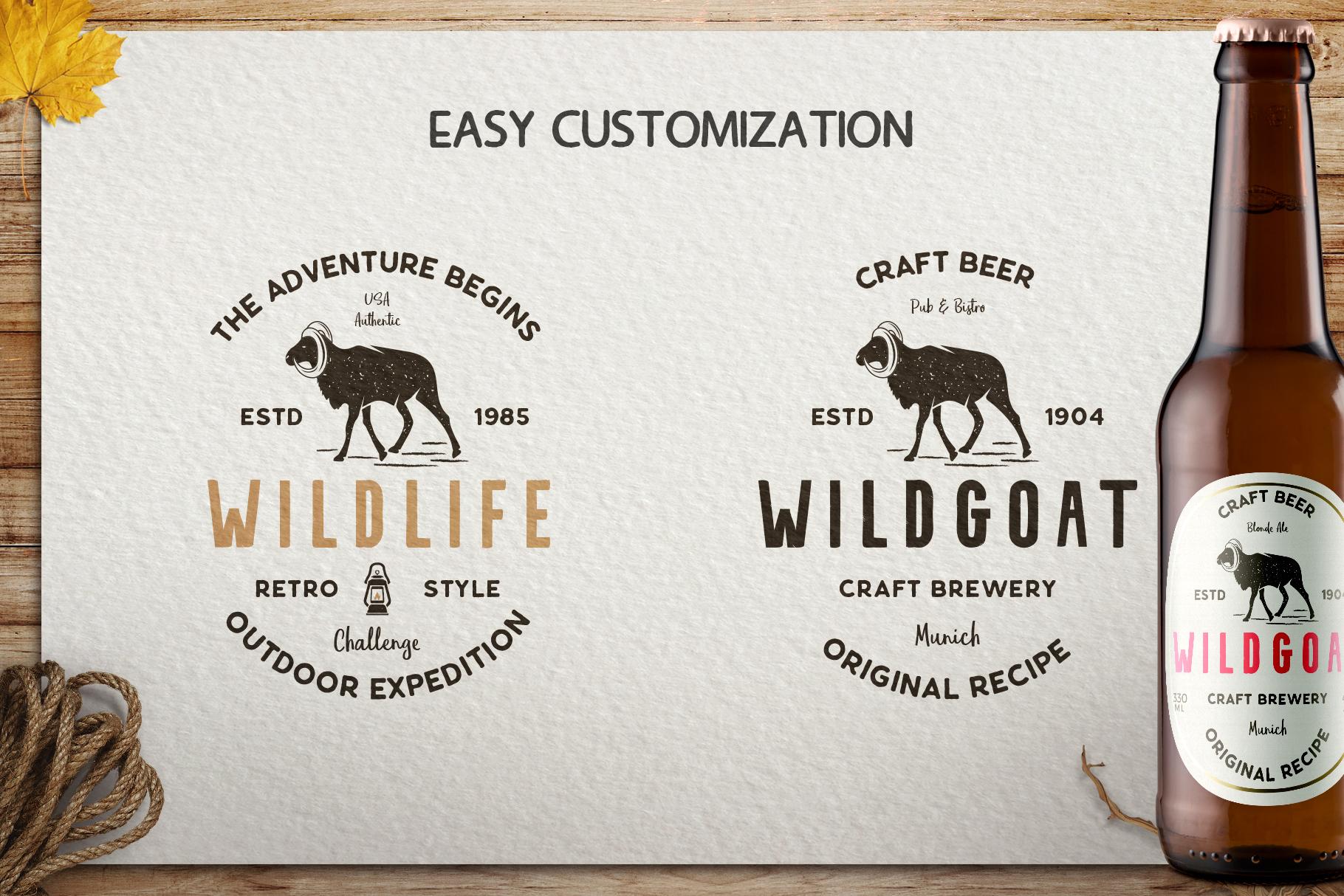 12 Wild Animals Badges Part 2 example image 6
