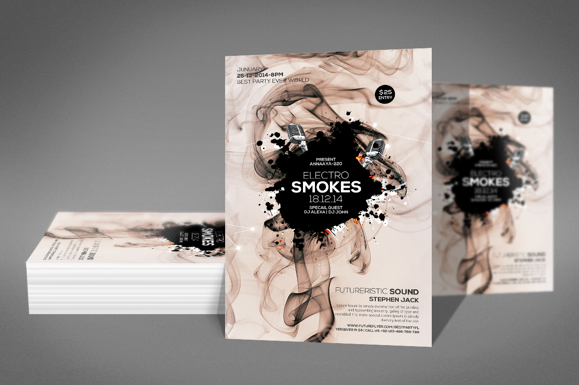 Smoke Night Party Flyer example image 2