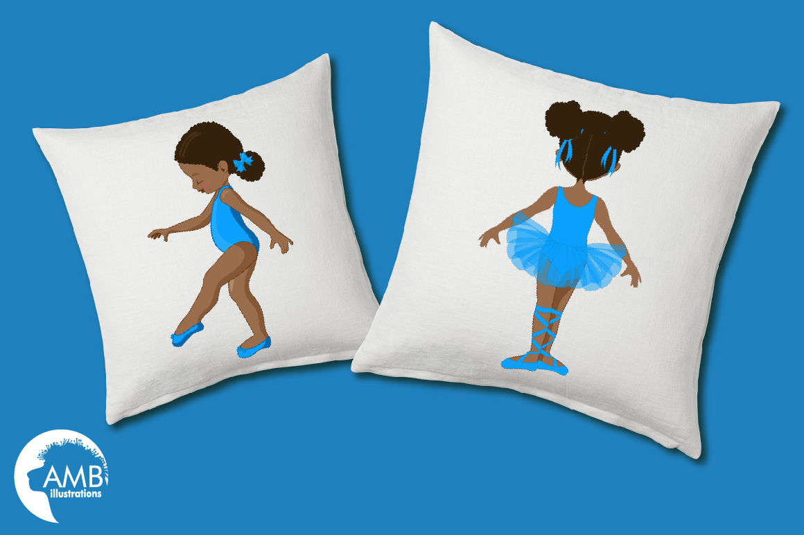Ballerinas in blue clipart, graphics illustration AMB-1946 example image 2