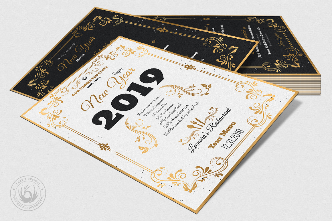 New Year Menu Template V1 example image 6