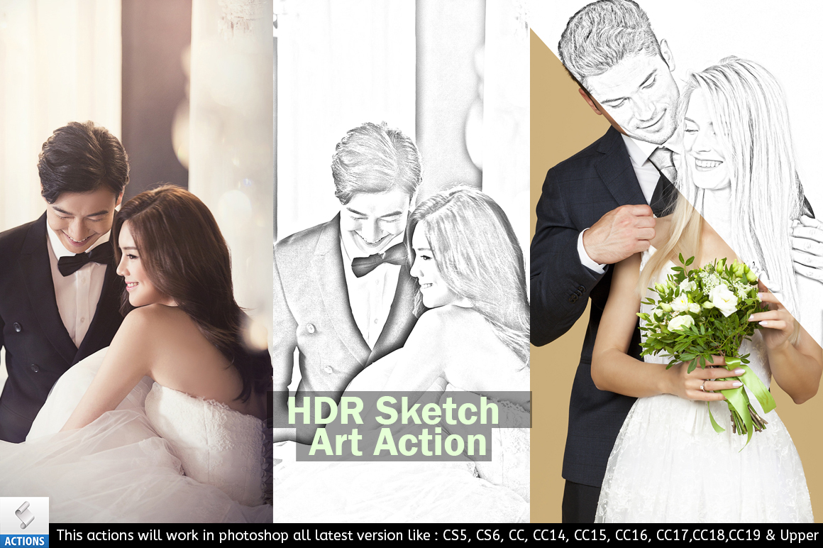Photoshop Sketch Art Action example image 5