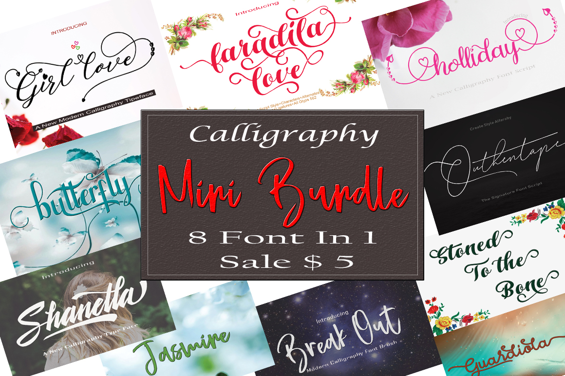 Calligraphy Mini Bundle example image 1
