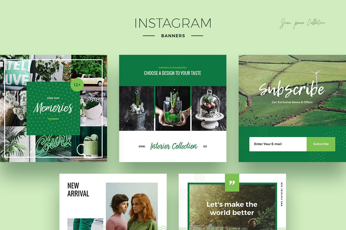 Green Peace Social Media Designs example image 2