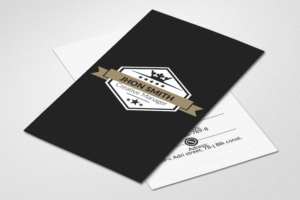 Vertical Business Cards Psd example image 2