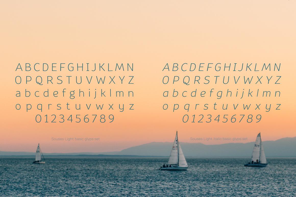 Souses — Light & Light Italic example image 3