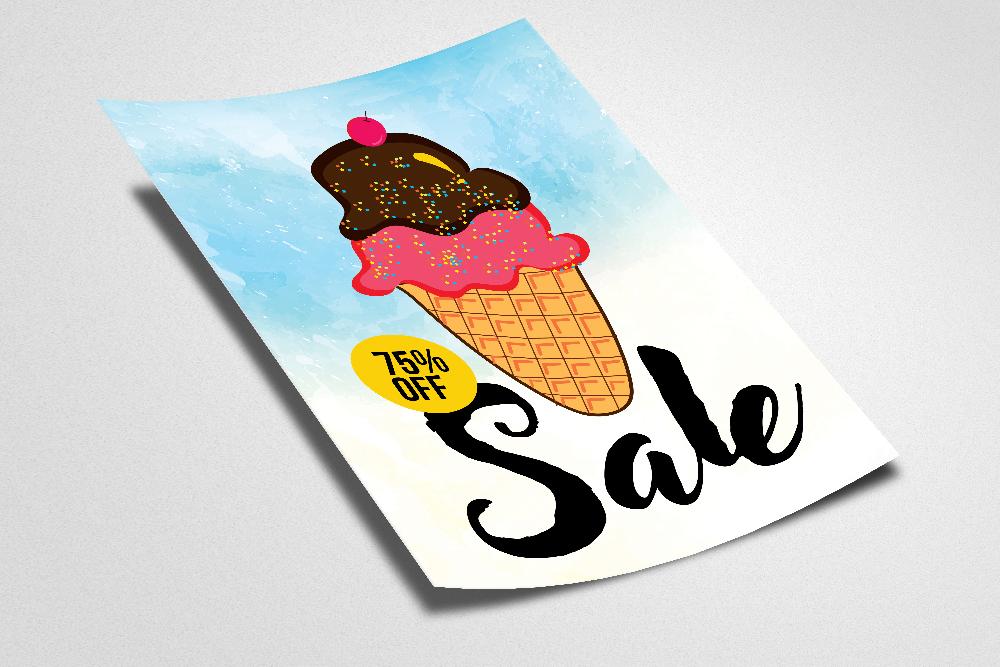 Ice Cream Discount Typography Flyer example image 2