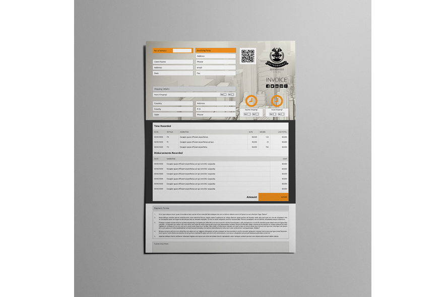 Business A4 Invoice Template example image 3