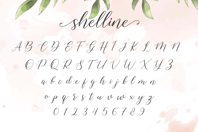 Shelline - Romantic Script example image 6