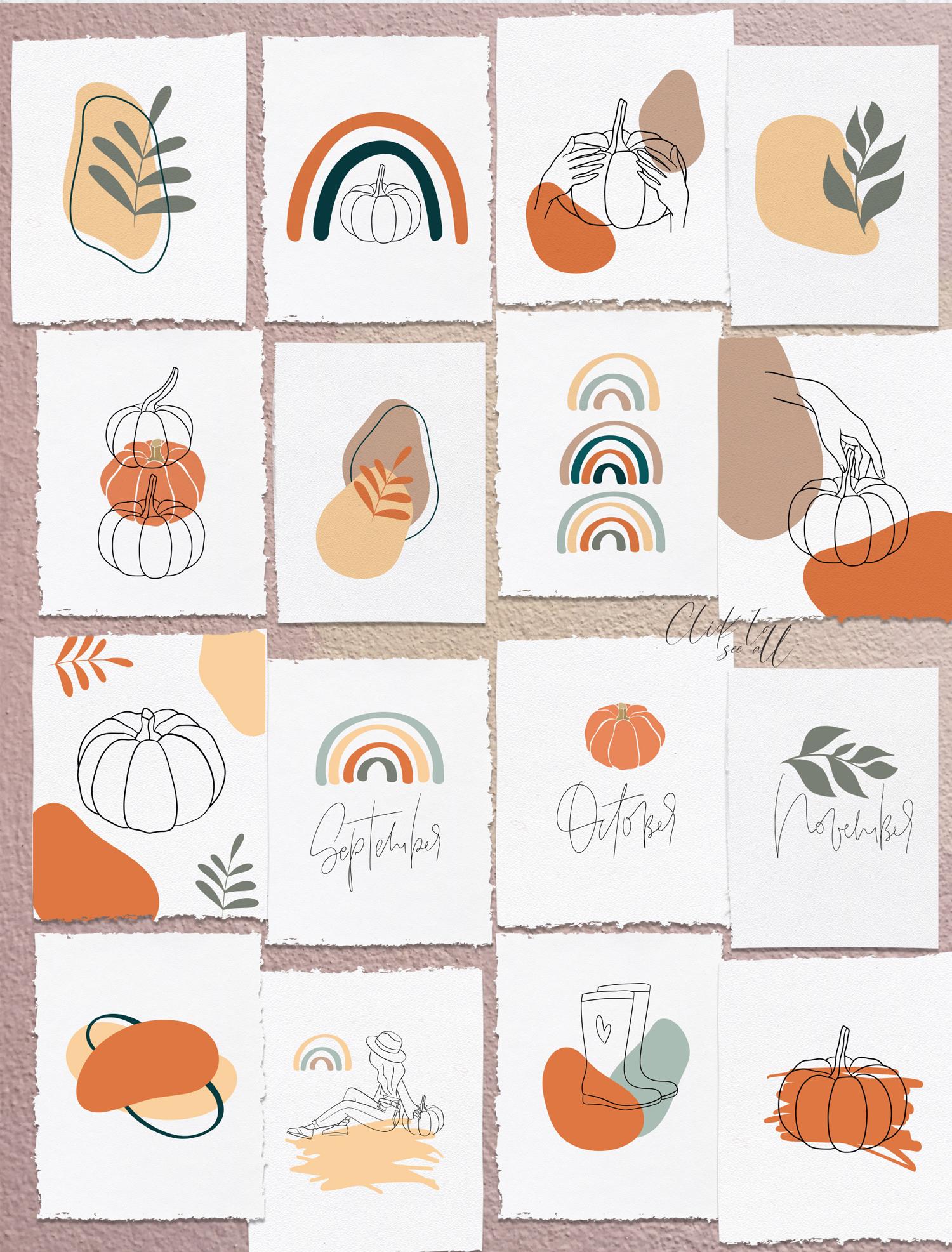 Autumn Vibes. Line art example image 12