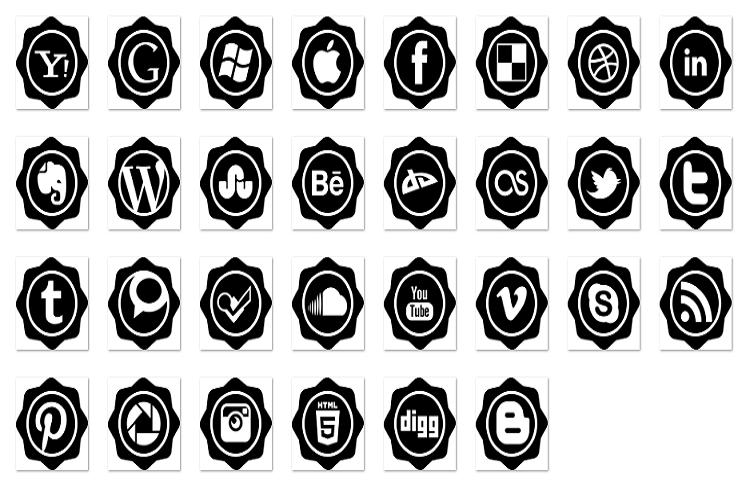 Social badge example image 1