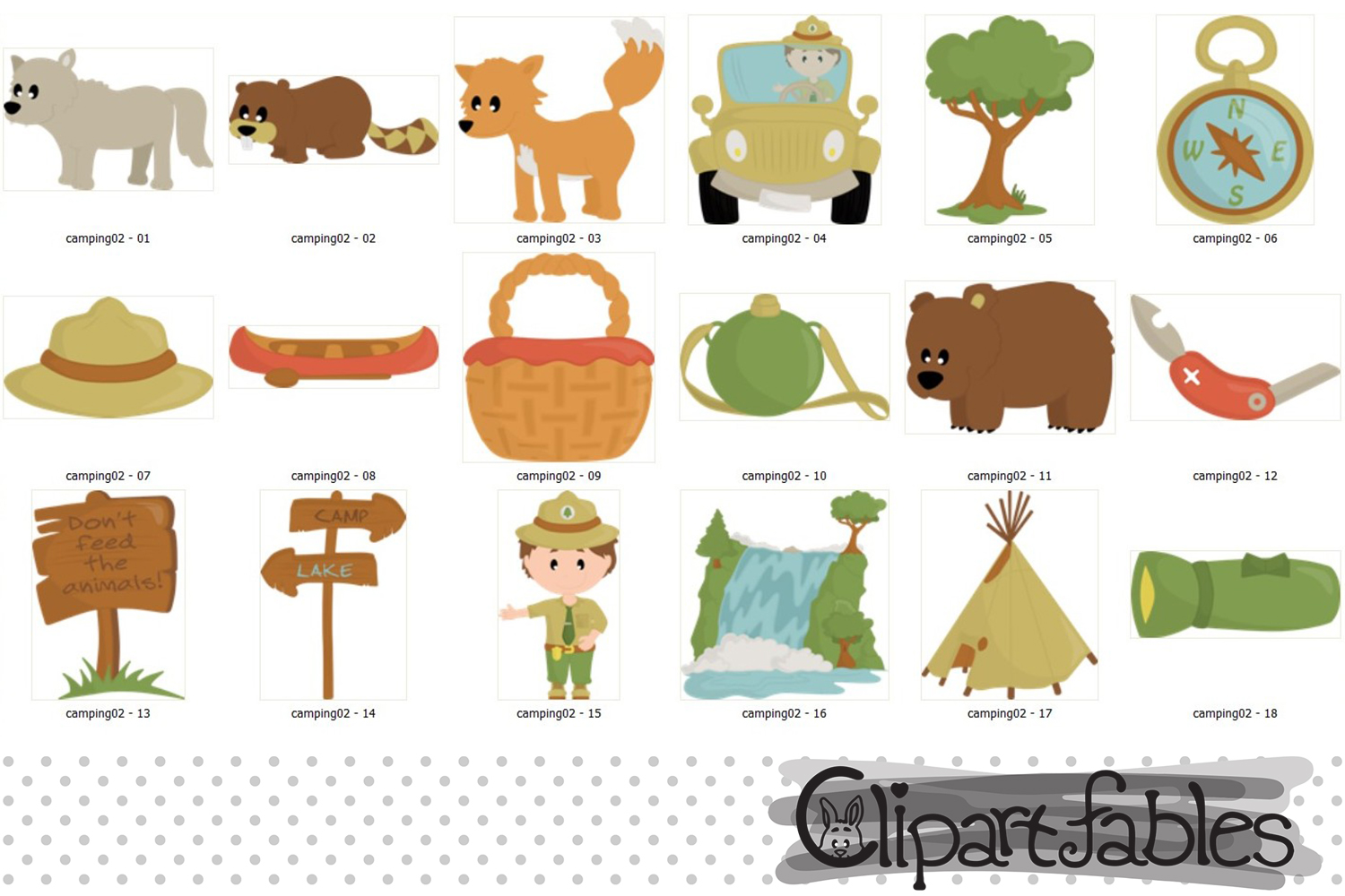 Cute RANGER clipart, Wild life, Outdoor clipart, Camping art example image 2