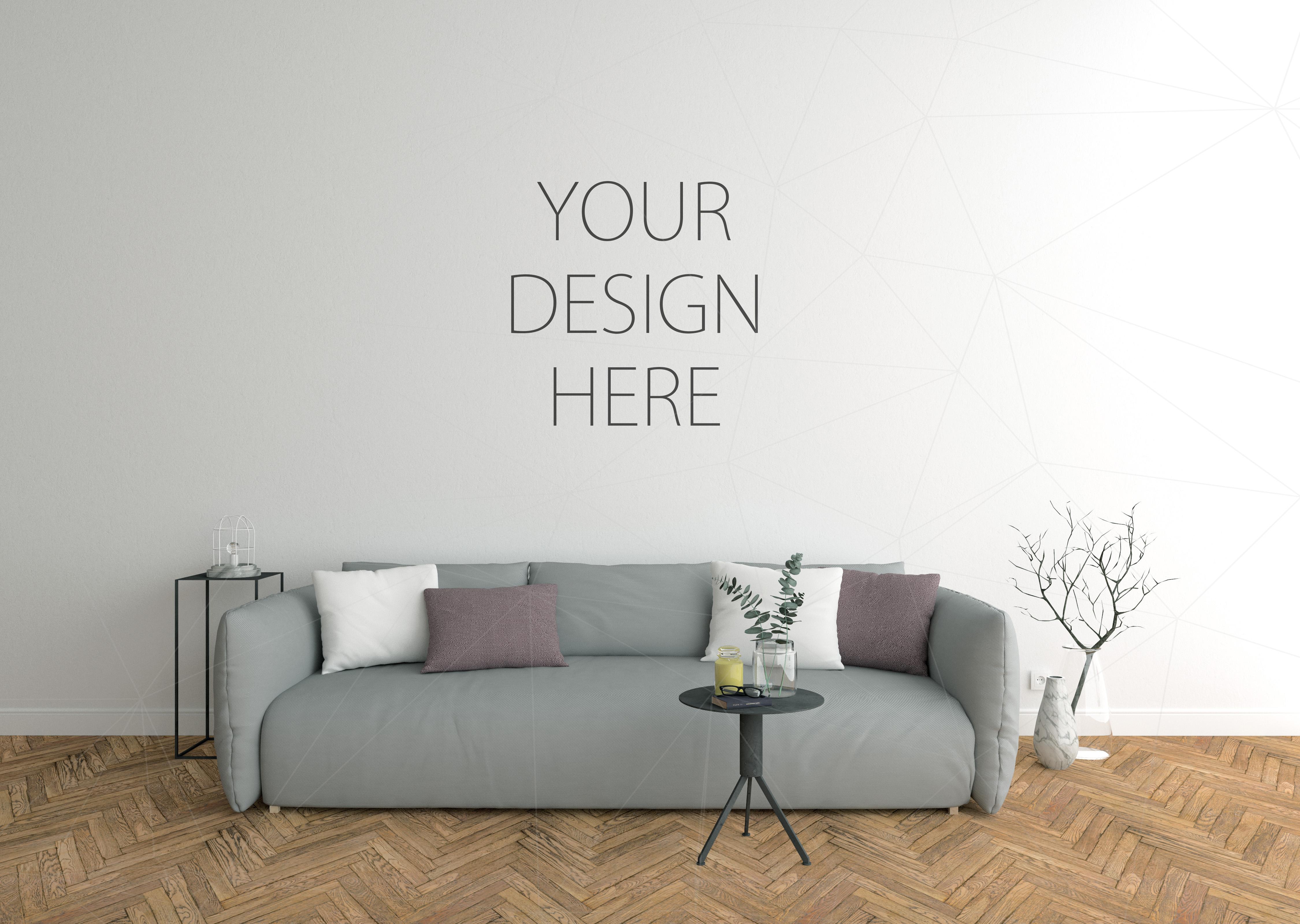 Interior mockup - blank wall mock up example image 1