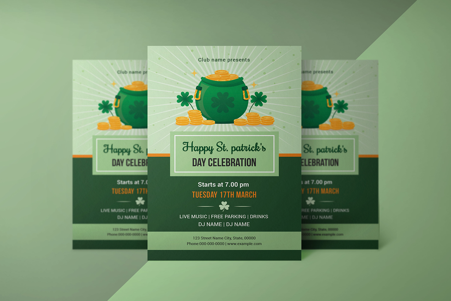 Saint Patricks Day Flyer, Ms Word & Photoshop Template example image 2