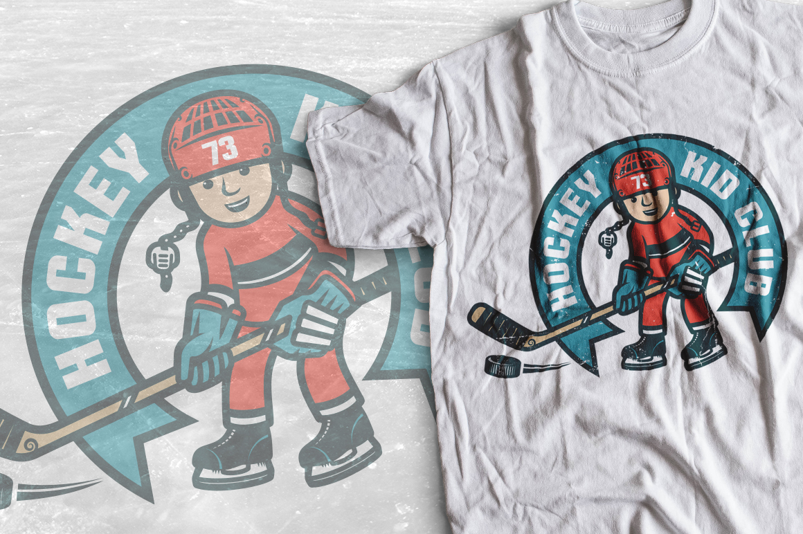 Hockey characters and logos example image 3