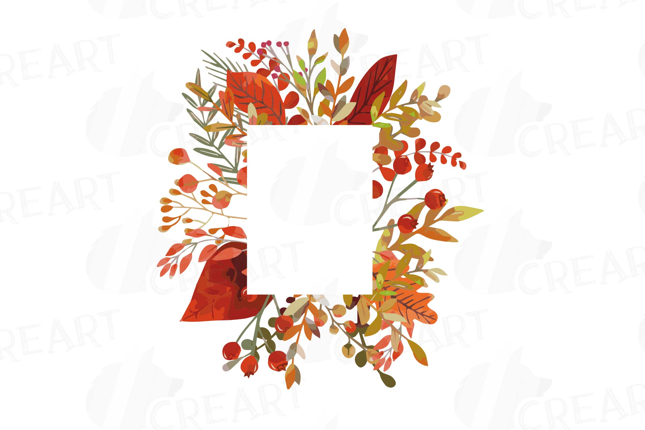 Autumn Frames Watercolor Clip Art Pack Fall Design Borders