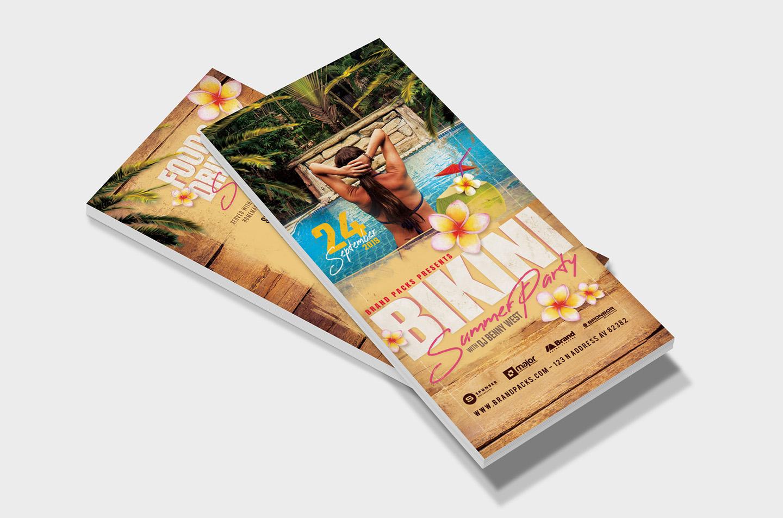 Bikini Party Flyer Template example image 8
