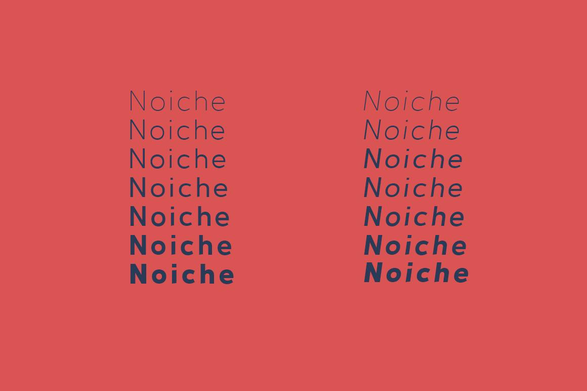 Noiche Sans Serif example image 3