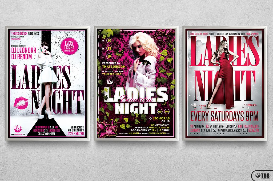 Ladies Night Flyer Bundle V3 example image 11