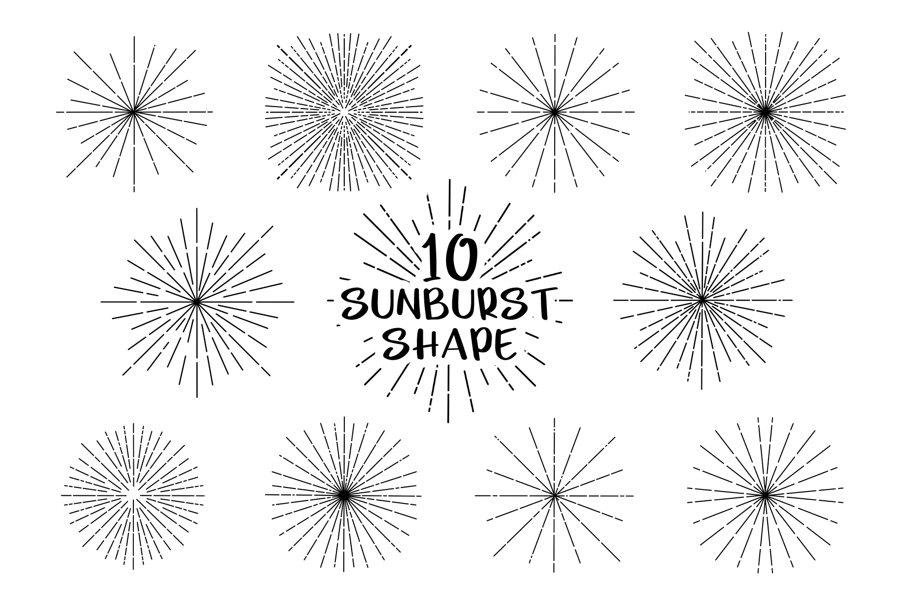 Sunburst Shape for Procreate example image 1