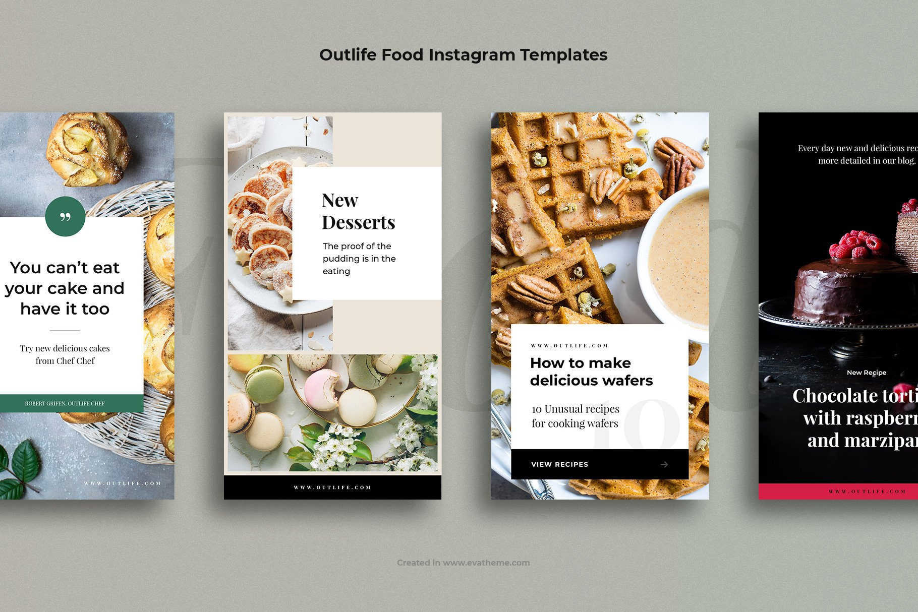 Outlife Food Instagram Templates example image 3