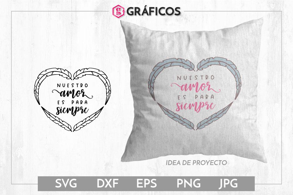 Nuestro amor es para siempre SVG - Diseño San Valentín example image 1