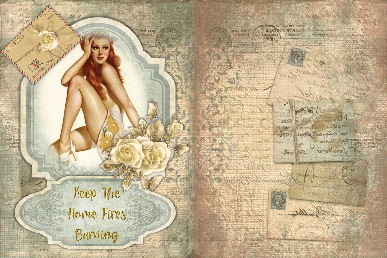 12 Page WW2 Junk Journal Kit with FREE Ephemera Pack. CU example image 2