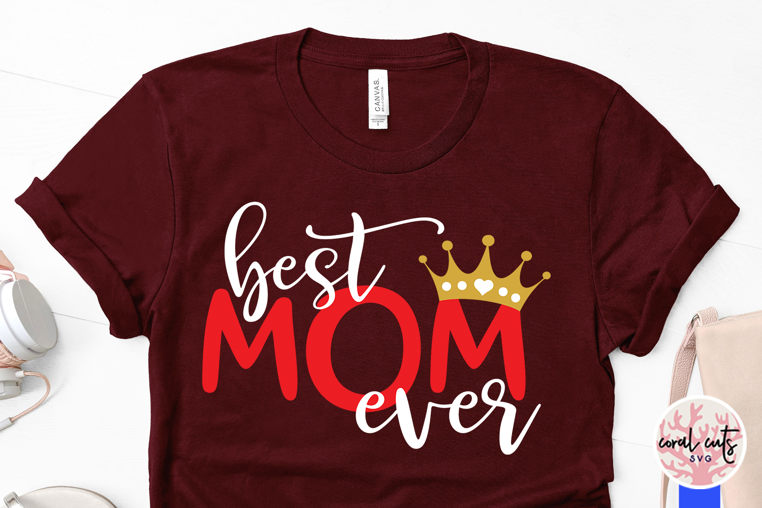 Best mom ever - Mother SVG EPS DXF PNG File example image 3