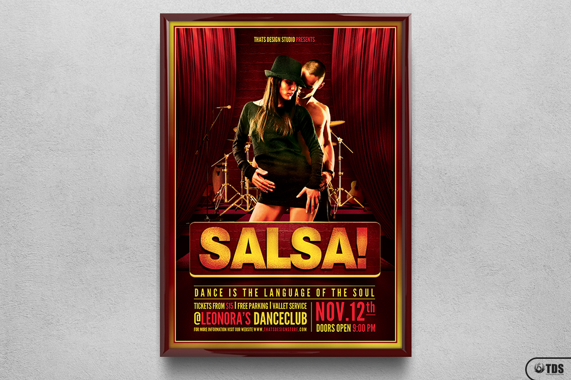Salsa Caliente Flyer Template example image 6