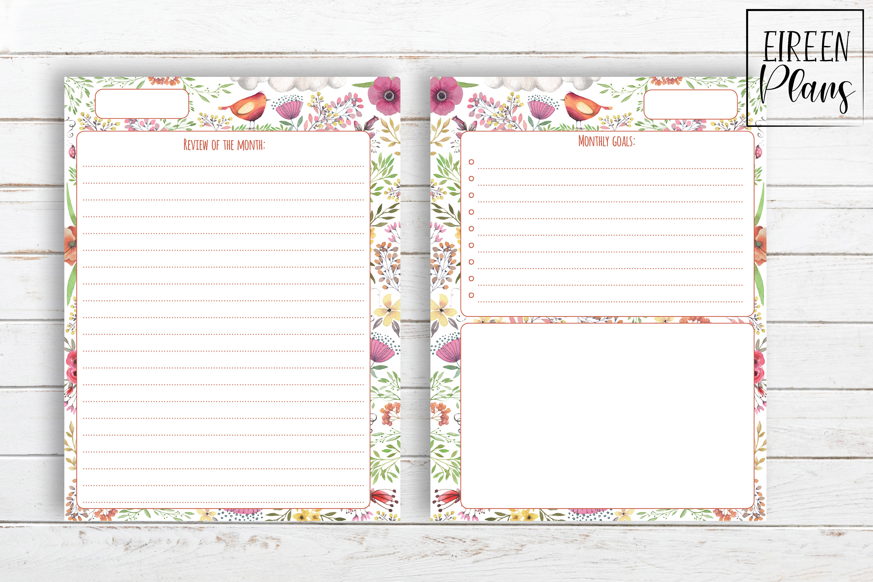 Monthly Printable for Classic Happy Planner example image 3